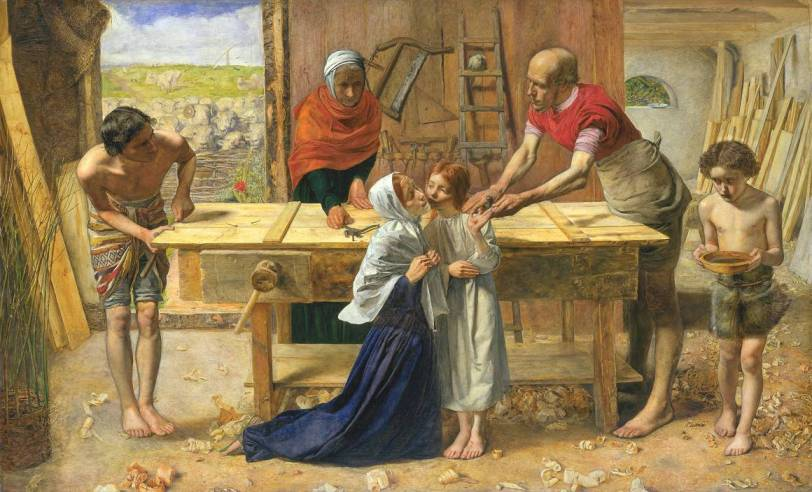 """Christ in the House of His Parents ('The Carpenter's Shop')"", Sir John Everett Millais, 1849-50"