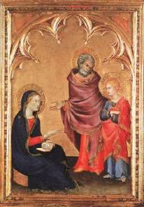 """Christ Returning to His Parents"", Simone Martini, 1342"