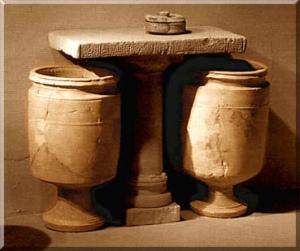 Palestinian stone water jars