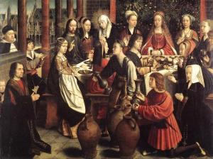 "Gerard David, ""The Wedding at Cana,""  c.1500"