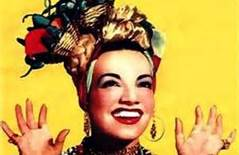 Carmen Miranda, in the iconic fruitbowl hat
