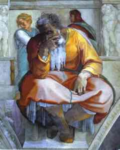 "Michaelangelo, ""The Prophet Jeremiah"""