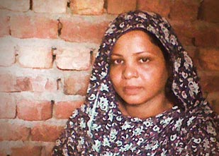 Asia Bibi, a woman sentenced to death in Pakistan for blasphemy (she has been reprieved for the time being)