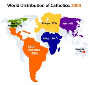 Global Distribution of Catholics