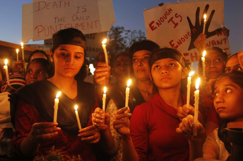 Indian women protesting rape