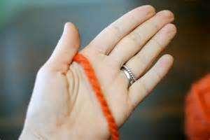 Hand Holding Yarn