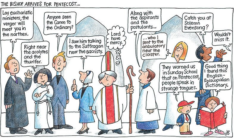 What happens when episcopalians speak in tongues from the rev jay