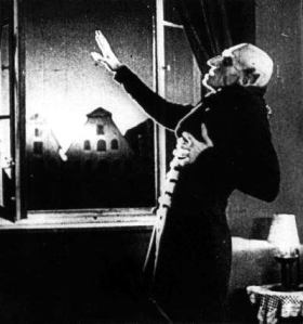 Count Orlok cringes before the sun ...