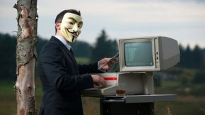 "Guy Fawkes, the symbol of ""hacktivists"""