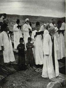 20th Century Samaritans, worshiping at Mt. Gerizim, National Geographic Magazine,1920