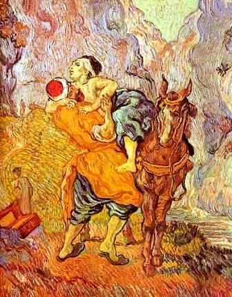 """""""The Good Samaritan, """" Vincent van Gogh"""