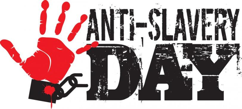 Poster for Anti-Slavery Day, 2009