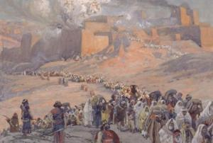 "James Tissot, ""Flight of the Prisoners,"" 1886-94 (scene of the Babylonian Exile)."