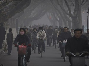 Choking air pollution in a Chinese city