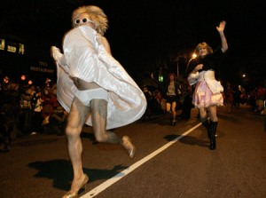 DC High-Heeled Drag Race (Xinhua/Reuters photo)