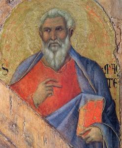 """""""The Apostle Matthew"""", Duccio, 1308"""