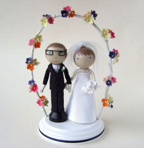 Straught Wedding Cake Topper