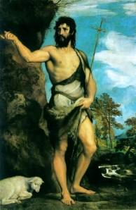 """Saint John the Baptist,"" Titian, 1542"