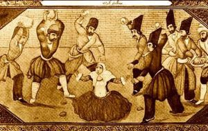 A Stoning for Adultery (ancient Arabic manuscript)