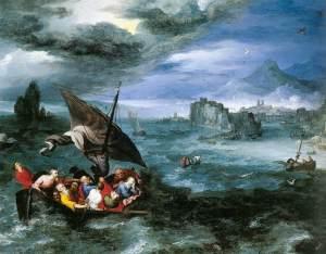 """Peter Brueghel, """"Christ in the Storm on the Sea of Galilee,"""" 1596"""